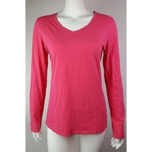Lucy Activewear Solid Pink Long Sleeve - Medium